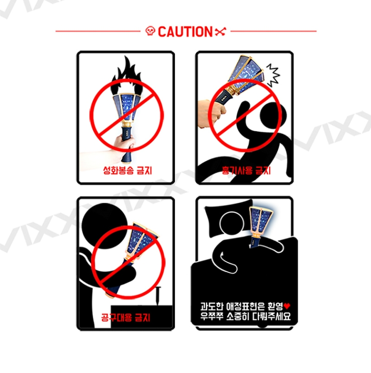 VIXX has a New Lightstick and the Safety Instructions are